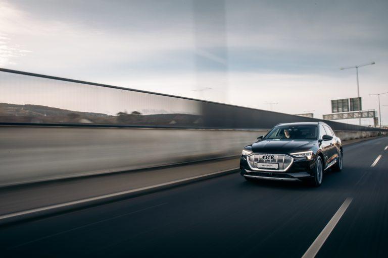 Gliding along in the Audi e-tron