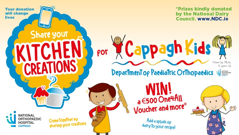 'Kitchen Creations For Cappagh Kids' fundraiser launched by Cappagh Hospital Foundation
