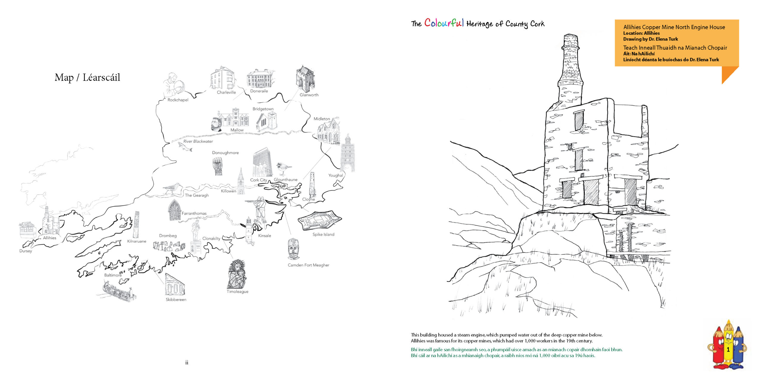 Heritage of County Cork Colouring Book Volume 2 needs you!