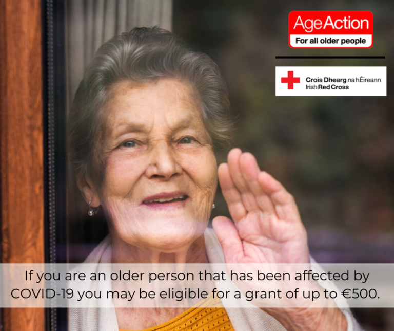 Age Action and the Irish Red Cross launch COVID-19 Hardship Fund to Assist Older People