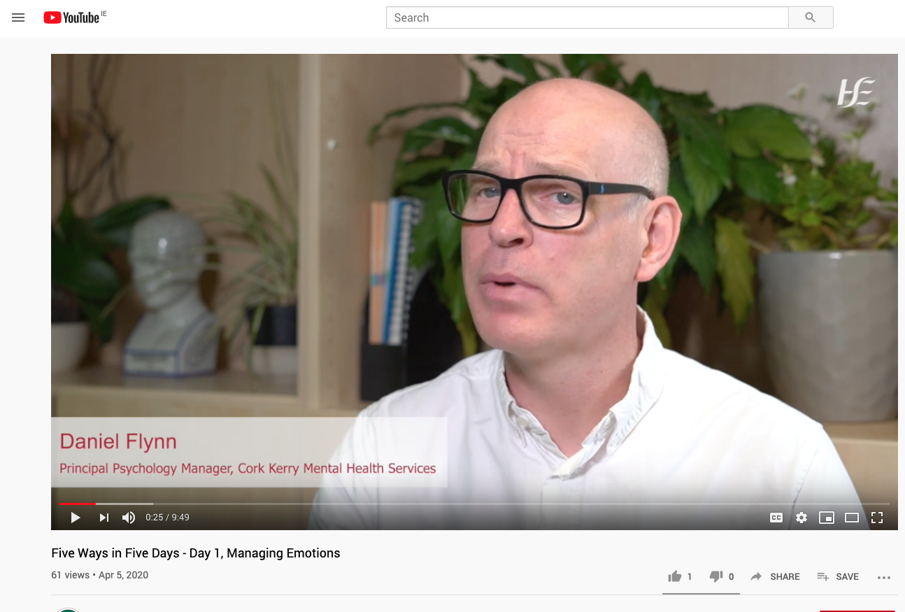 Cork Kerry Community Healthcare launches weeklong series of video supports to help you cope with Covid-19