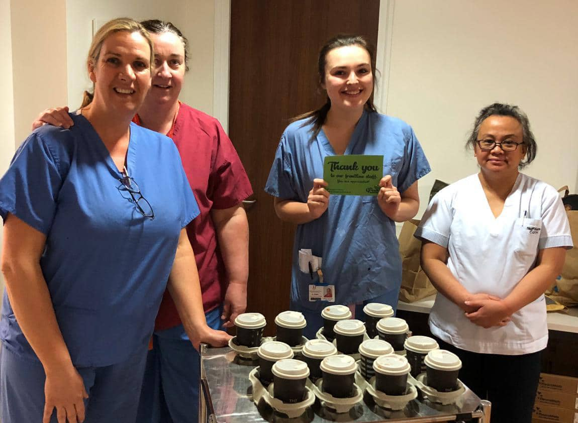 The Green Wave is delivering 1000s of coffees to frontline workers in show of solidarity