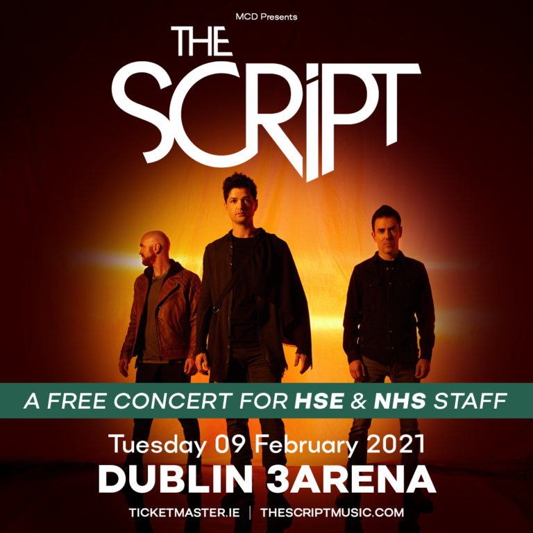 The Script announces free concert for frontline staff and Primary Care workers