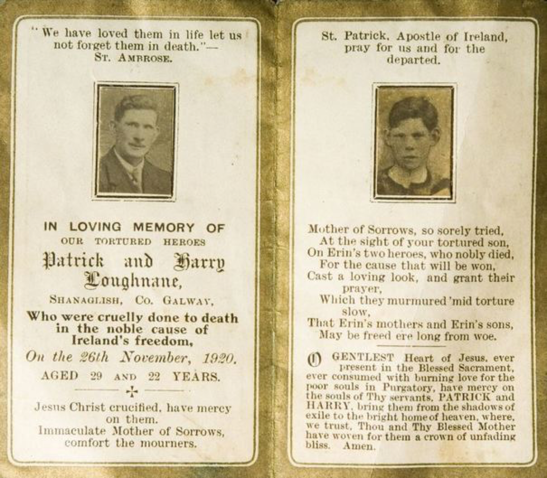The tragic story of Patrick and Harry Loughnane
