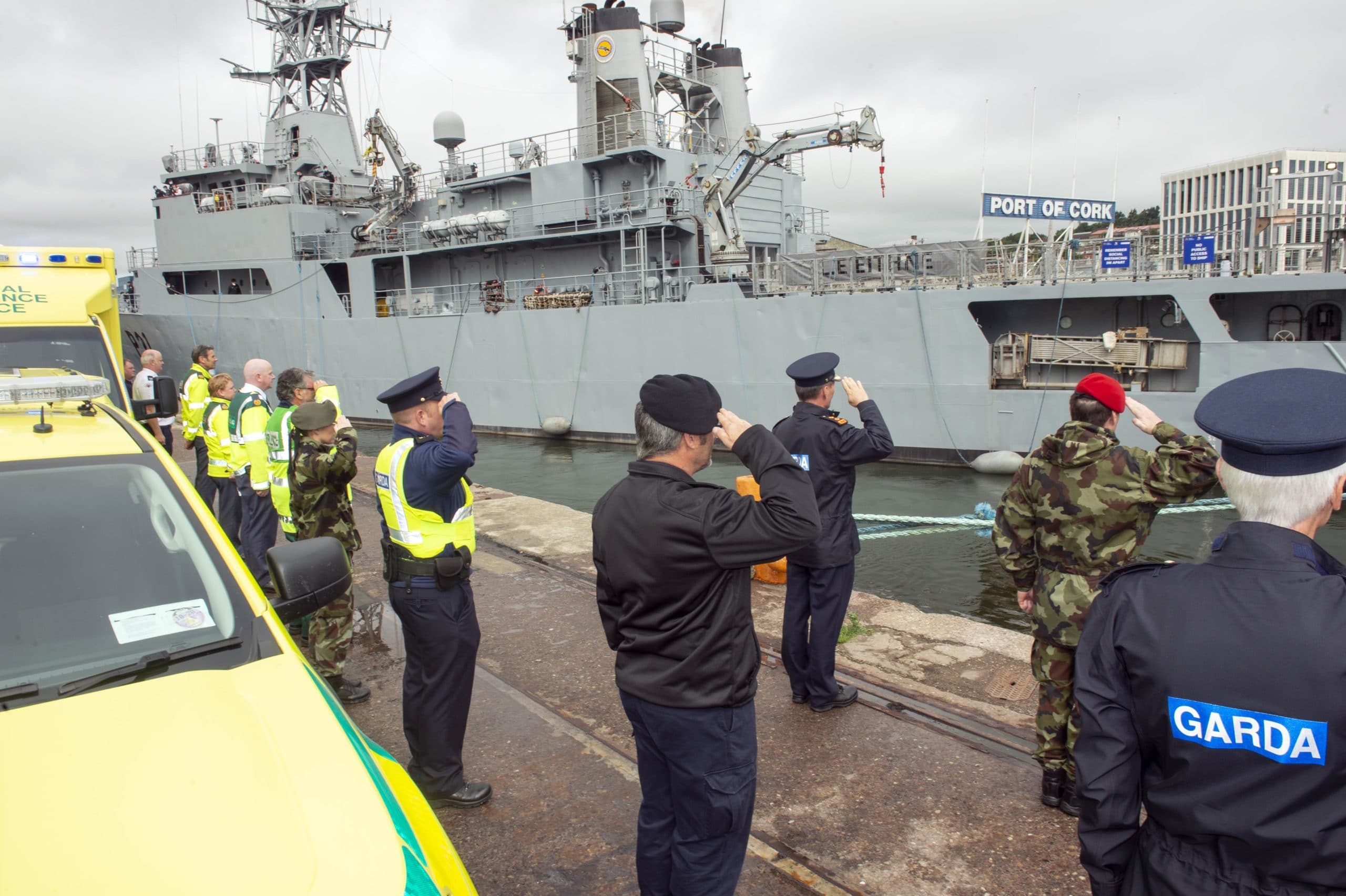 South/South West Hospital Group Bids Farewell to LÉ Eithne
