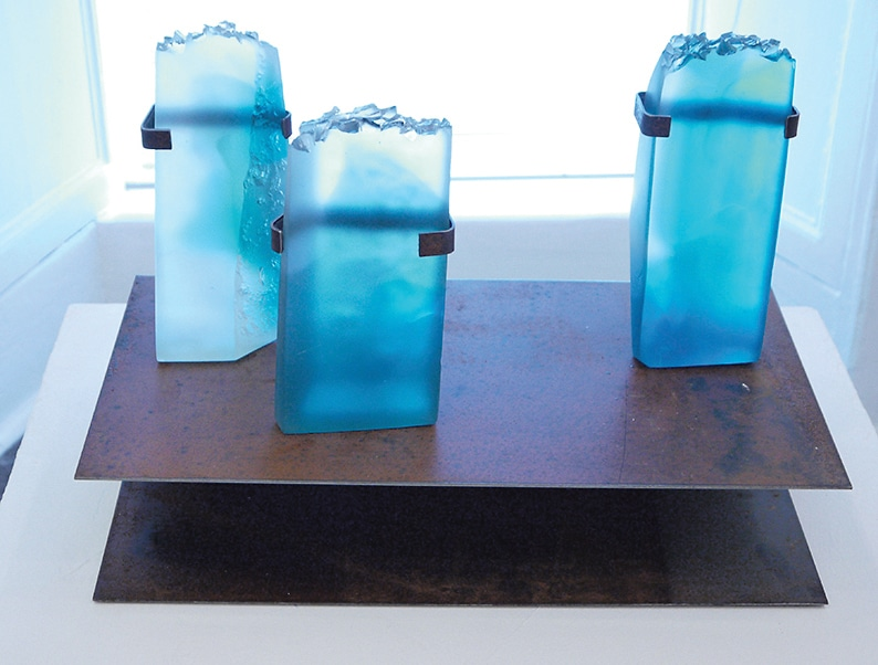 Rolling group show and solo exhibitions maintain  the vitality of Blue House Gallery this summer