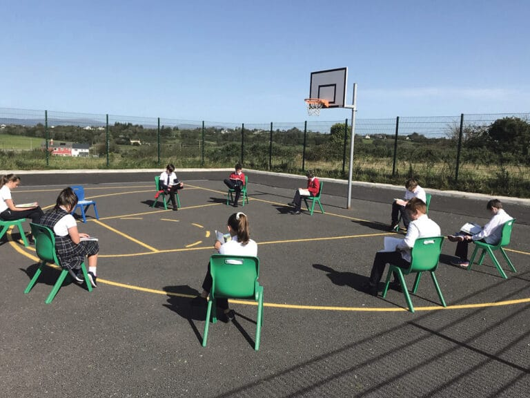 Gaelscoil Dr. Uí Shúilleabháin  settles in to to a new school routine