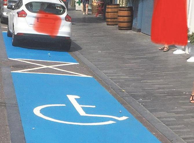 Steal an accessible parking space – steal someone's independence